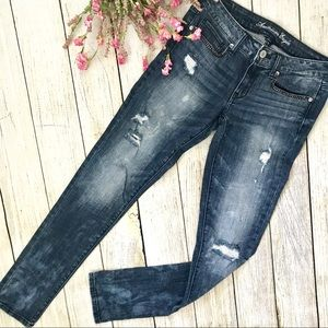 American Eagle Distressed Skinny Studded Jeans 6